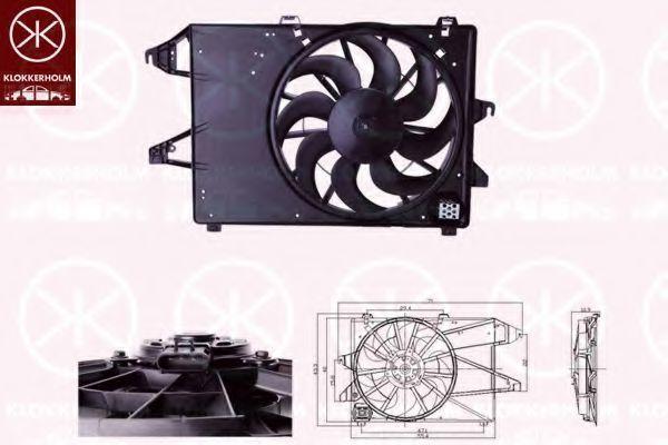 Вентилятор, охлаждение двигателя KLOKKERHOLM 25542603