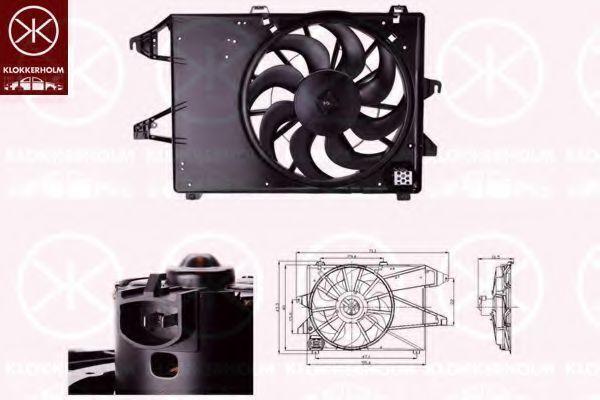 Вентилятор, охлаждение двигателя KLOKKERHOLM 25542604