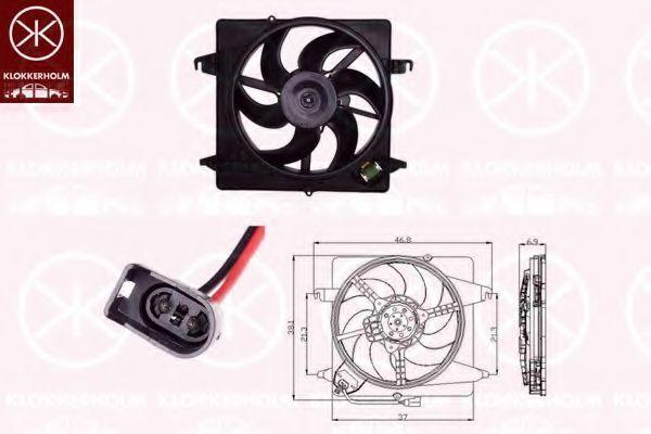 Вентилятор, охлаждение двигателя KLOKKERHOLM 25052602