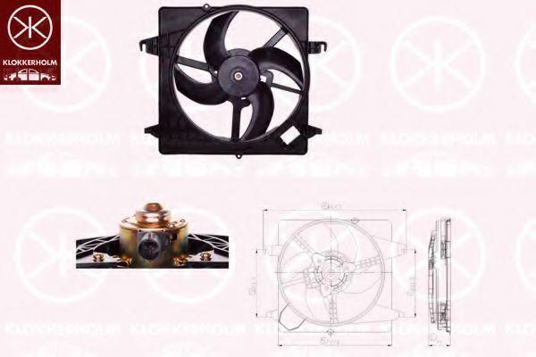 Вентилятор, охлаждение двигателя KLOKKERHOLM 25052601