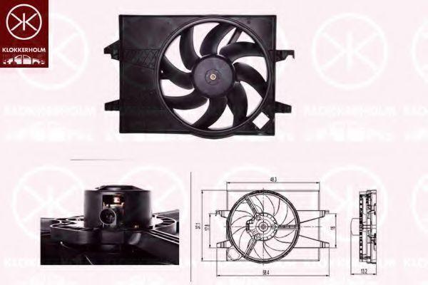 Вентилятор, охлаждение двигателя KLOKKERHOLM 25642603