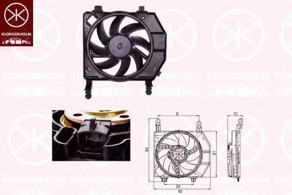 Вентилятор, охлаждение двигателя KLOKKERHOLM 25632601
