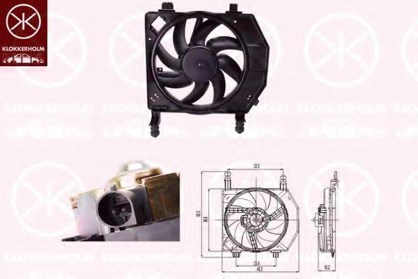 Вентилятор, охлаждение двигателя KLOKKERHOLM 25632602