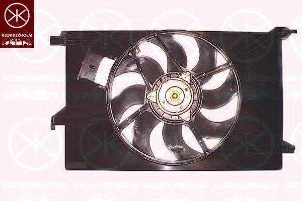 Вентилятор, охлаждение двигателя KLOKKERHOLM 50782601