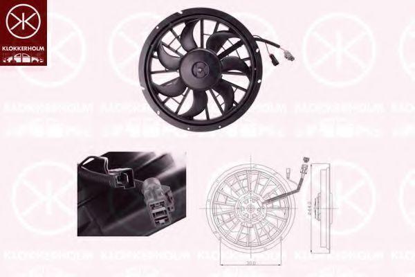 Вентилятор, охлаждение двигателя KLOKKERHOLM 90372602