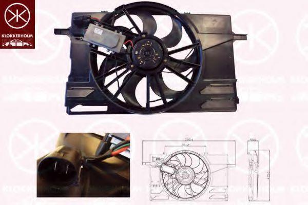 Вентилятор, охлаждение двигателя KLOKKERHOLM 90092601