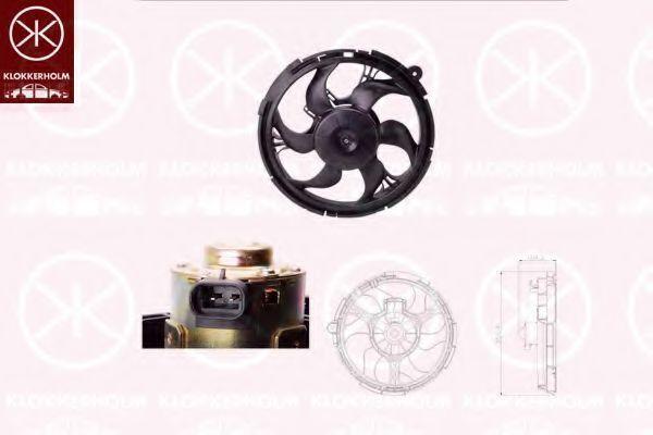 Вентилятор, охлаждение двигателя KLOKKERHOLM 20272601