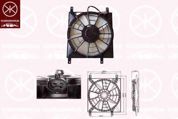 Вентилятор, охлаждение двигателя KLOKKERHOLM 68352601