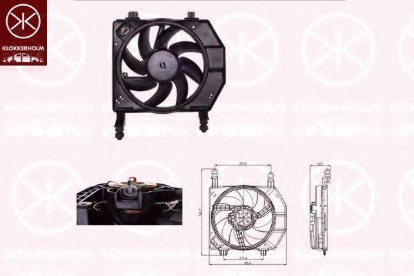 Вентилятор, охлаждение двигателя KLOKKERHOLM 25632603