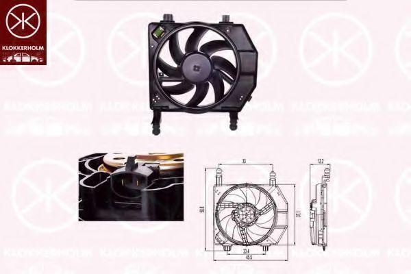 Вентилятор, охлаждение двигателя KLOKKERHOLM 25632606