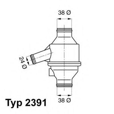 Термостат, охлаждающая жидкость WAHLER 239175