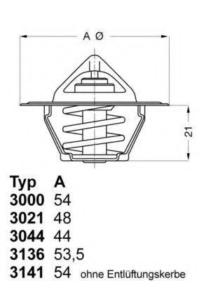Термостат с прокладкой WAHLER 313682D50