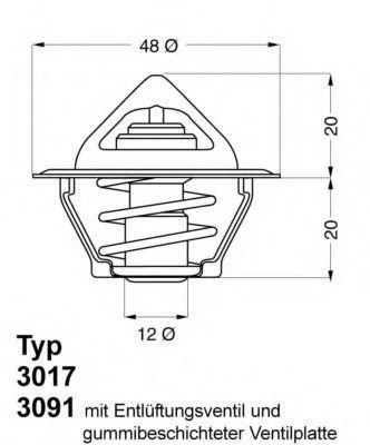 Термостат с прокладкой WAHLER 3017.87D2