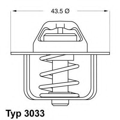 Термостат с прокладкой WAHLER 3033.84D