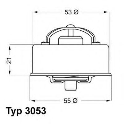 Термостат, охлаждающая жидкость WAHLER 305375