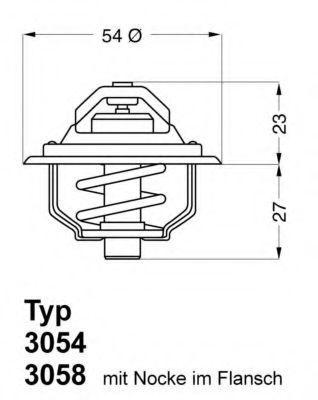 Термостат WAHLER 3054.87D50