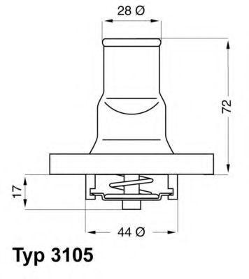 Термостат WAHLER 3105.87D