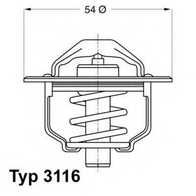 Термостат WAHLER 3116.82D