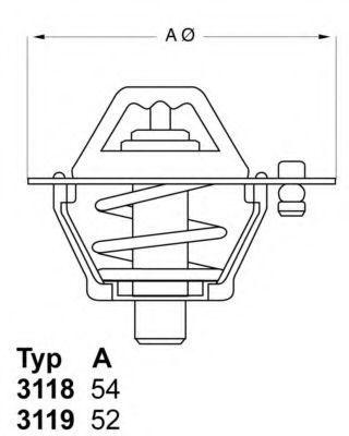 Термостат с прокладкой WAHLER 311982D4