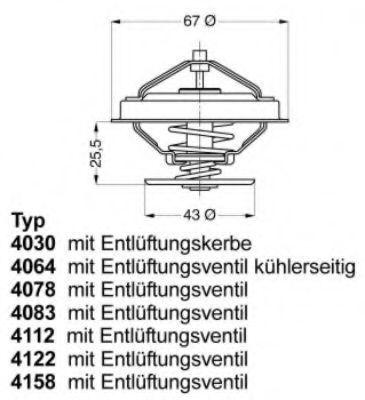 Термостат с прокладкой WAHLER 4078.87D