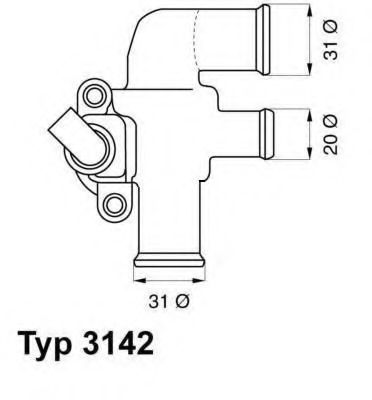 Термостат WAHLER 3142.90D