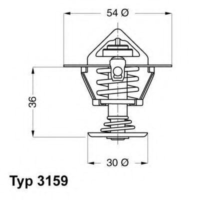 Термостат WAHLER 3159.82D