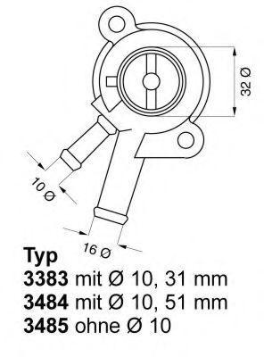 Термостат, охлаждающая жидкость WAHLER 338387