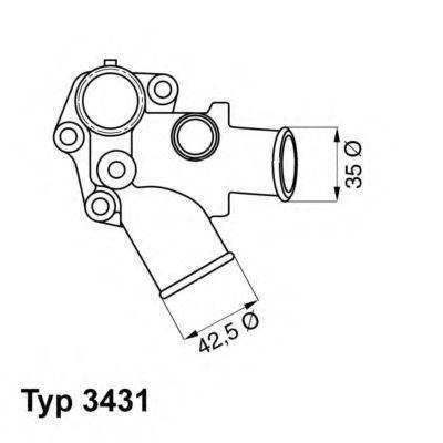 Термостат WAHLER 3431.80D