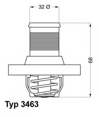 Термостат WAHLER 346389D