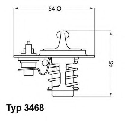 Термостат WAHLER 346888D