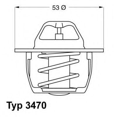 Термостат с прокладкой WAHLER 347089D50