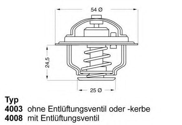 Термостат WAHLER 4008.79D