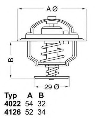 Термостат WAHLER 4022.82D