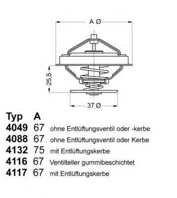 Термостат с прокладкой WAHLER 404980D1