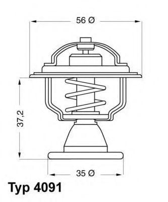 Термостат WAHLER 4091.82D