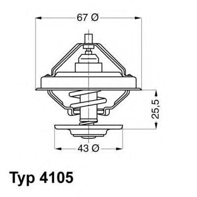 Термостат с прокладкой WAHLER 4105.83D