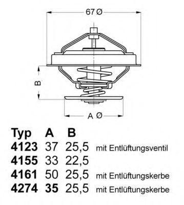 Термостат с прокладкой WAHLER 427487D