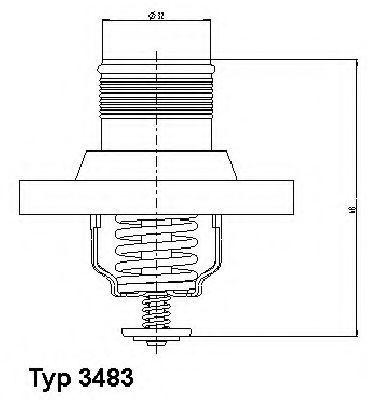 Термостат с прокладкой WAHLER 348389D