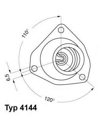 Термостат WAHLER 4144.92D