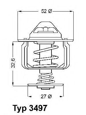 Термостат WAHLER 3497.88D