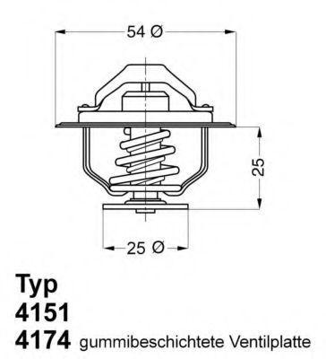 Термостат с прокладкой WAHLER 417479D