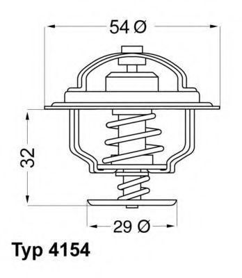 Термостат WAHLER 415488D