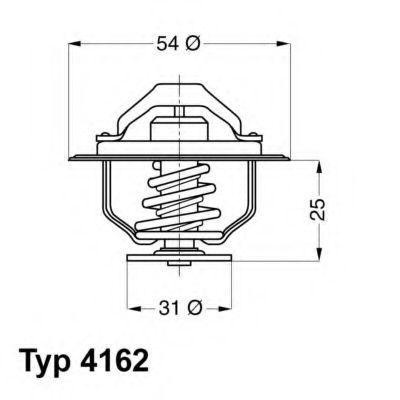 Термостат, охлаждающая жидкость WAHLER 416279D