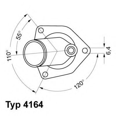 Термостат WAHLER 416492D