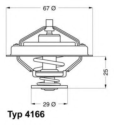 Термостат с прокладкой WAHLER 4166.79D