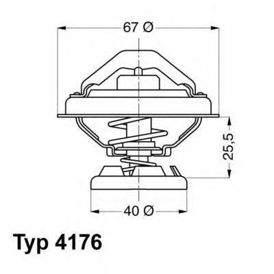 Термостат WAHLER 4176.85D