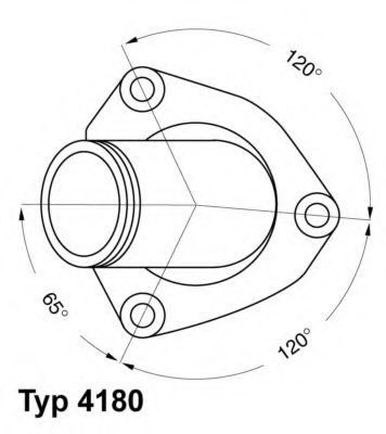 Термостат с прокладкой WAHLER 418082D