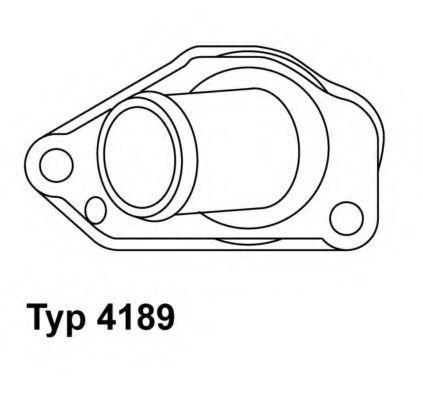 Термостат, охлаждающая жидкость WAHLER 418987D