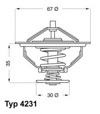 Термостат WAHLER 4231.80D