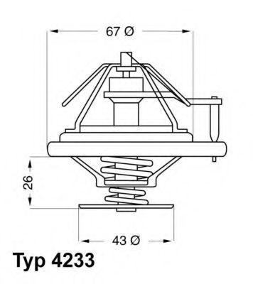 Термостат с прокладкой WAHLER 4233.80D